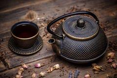 Conjunto de té asiático Imagenes de archivo