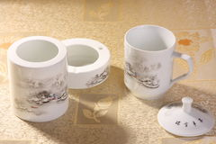 Conjunto de té blanco Foto de archivo