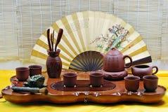 Conjunto de té chino Foto de archivo