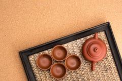 Conjunto de té chino fotografía de archivo libre de regalías