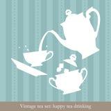 Conjunto de té de la vendimia Foto de archivo
