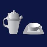 Conjunto de té de la vendimia Imágenes de archivo libres de regalías