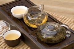 Conjunto de té del chino tradicional Imágenes de archivo libres de regalías