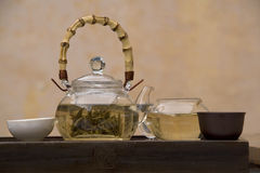 Conjunto de té del chino tradicional Fotos de archivo