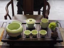 Conjunto de té del estilo chino Fotos de archivo libres de regalías