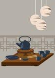 Conjunto de té japonés Imagen de archivo libre de regalías