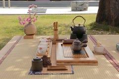 Conjunto de té japonés Fotografía de archivo libre de regalías