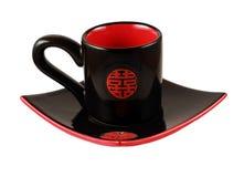 Conjunto de té negro de chiha Foto de archivo libre de regalías