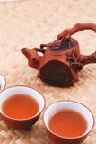 Conjunto de té púrpura de la arena Fotografía de archivo libre de regalías
