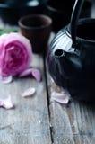 Conjunto de té asiático Foto de archivo