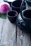 Conjunto de té asiático Imágenes de archivo libres de regalías