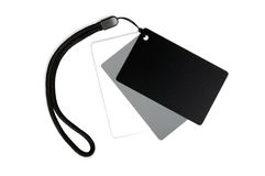 Conjunto de tarjeta blanco de balanza. Foto de archivo libre de regalías