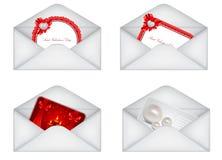 conjunto de tarjeta del día de San Valentín decorativa del santo \ de 'sobres de s Fotografía de archivo