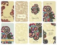 Conjunto de tarjeta floral Foto de archivo