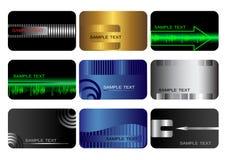 Conjunto de tarjetas. Imágenes de archivo libres de regalías