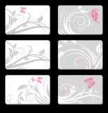 Conjunto de tarjetas Imágenes de archivo libres de regalías