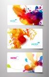 Conjunto de tarjetas abstractas del regalo. Fotografía de archivo libre de regalías