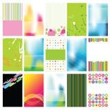 Conjunto de tarjetas coloridas Foto de archivo libre de regalías