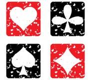 Conjunto de tarjetas de juego. Foto de archivo libre de regalías