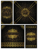 Conjunto de tarjetas de la vendimia Fotografía de archivo libre de regalías