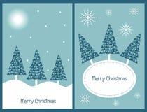 Conjunto de tarjetas de Navidad Imagen de archivo libre de regalías