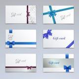 Conjunto de tarjetas de regalo Fotos de archivo