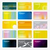 Conjunto de tarjetas de visita Fotografía de archivo libre de regalías