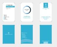Conjunto de tarjetas de visita Imágenes de archivo libres de regalías