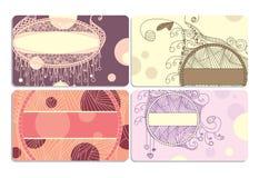 Conjunto de tarjetas de visita Imagenes de archivo