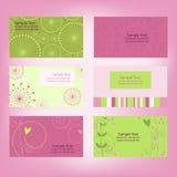 Conjunto de tarjetas de visita foto de archivo libre de regalías
