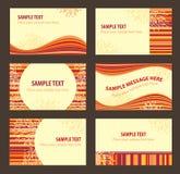 Conjunto de tarjetas de visita Fotos de archivo libres de regalías