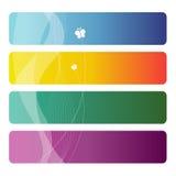 Conjunto de tarjetas de visita coloridas Imagen de archivo libre de regalías
