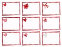 Conjunto de tarjetas del día de fiesta St Día de tarjetas del día de San Valentín Imagen de archivo libre de regalías