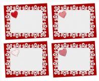 Conjunto de tarjetas del día de fiesta St Día de tarjetas del día de San Valentín Foto de archivo