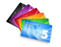 Conjunto de tarjetas del descuento