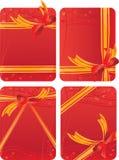 Conjunto de tarjetas del regalo ilustración del vector
