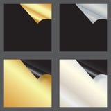 Conjunto de tarjetas del regalo con las esquinas rodadas ilustración del vector