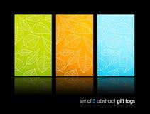 Conjunto de tarjetas del regalo de la naturaleza con la reflexión. Imagenes de archivo