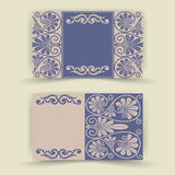 Conjunto de tarjetas florales de la invitación Fotos de archivo libres de regalías