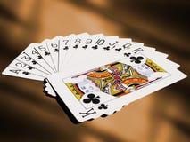 Conjunto de tarjetas que juegan Fotografía de archivo libre de regalías