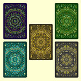 Conjunto de tarjetas que juegan Foto de archivo