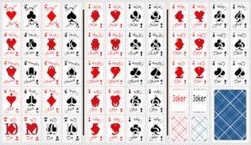 Conjunto de tarjetas que juegan. Fotografía de archivo libre de regalías