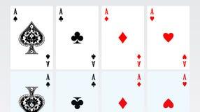 Conjunto de tarjetas que juegan Imagenes de archivo