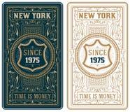 Conjunto de tarjetas retro Imagen de archivo