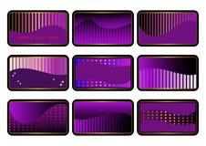 Conjunto de tarjetas. vector. Foto de archivo