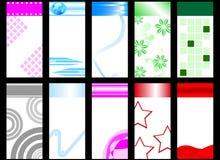 Conjunto de tarjetas verticales coloridas Libre Illustration