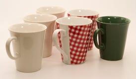 Conjunto de tazas Imágenes de archivo libres de regalías