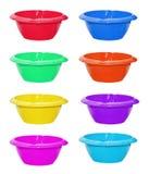 Conjunto de tazones de fuente del color Imágenes de archivo libres de regalías