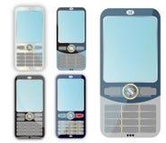 Conjunto de teléfonos celulares. Fotos de archivo libres de regalías