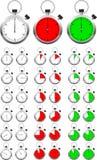 Conjunto de temporizadores del cronómetro del vector Fotografía de archivo